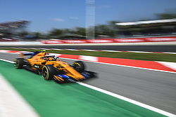 May 11, 2018 - Barcelona, Catalonia, Spain - STOFFEL VANDOORNE (BEL) drives during the second practice session of the Spanish GP at Circuit de Catalunya in his McLaren MCL33 (Credit Image: © Matthias Oesterle via ZUMA Wire)