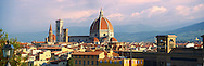 Panoramic view of the Gothic-Renaissance Duomo of Florence,  Basilica of Saint Mary of the Flower; Firenza ( Basilica di Santa Maria del Fiore ) built between 1293 & 1436. Italy .<br /> <br /> Visit our ITALY PHOTO COLLECTION for more   photos of Italy to download or buy as prints https://funkystock.photoshelter.com/gallery-collection/2b-Pictures-Images-of-Italy-Photos-of-Italian-Historic-Landmark-Sites/C0000qxA2zGFjd_k<br /> .<br /> <br /> Visit our MEDIEVAL PHOTO COLLECTIONS for more   photos  to download or buy as prints https://funkystock.photoshelter.com/gallery-collection/Medieval-Middle-Ages-Historic-Places-Arcaeological-Sites-Pictures-Images-of/C0000B5ZA54_WD0s