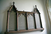 Panel of christian prayers Church of Saint Michael, Boulge, Suffolk