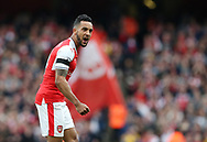 Arsenal's Theo Walcott celebrates his sides second goal during the Premier League match at the Emirates Stadium, London. Picture date: April 2nd, 2017. Pic credit should read: David Klein/Sportimage