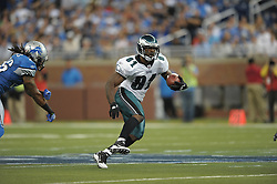 DETROIT - SEPTEMBER 19: Wide Receiver Jason Avant #81 of the Philadelphia Eagles runs the ball during the game against the Detroit Lions on September 19, 2010 at Ford Field in Detroit, Michigan. (Photo by Drew Hallowell/Getty Images)  *** Local Caption *** Jason Avant