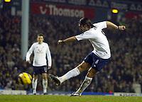 1/1/2005 - FA Barclays Premiership - Tottenham Hotspur v Everton - White Hart Lane<br />Tottenham Hotspur's Pedro Mendes scores his team's third goal<br />Photo:Jed Leicester/Back Page Images