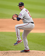 CHICAGO - JUNE 30:  Tyler Duffey #21 of the Minnesota Twins pitches against the Chicago White Sox on June 30, 2019 at Guaranteed Rate Field in Chicago, Illinois.  (Photo by Ron Vesely)  Subject:  Tyler Duffey