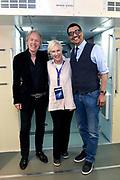 Perslancering Wubbo's last words: Save the Earth! - in Space Expo Noordwijk. Een inspirerende en optimistische show over zijn leven en het redden van onze planeet.<br /> <br /> Op de foto:  Joos Ockels met Jorgen Raymann, Bert Heerink