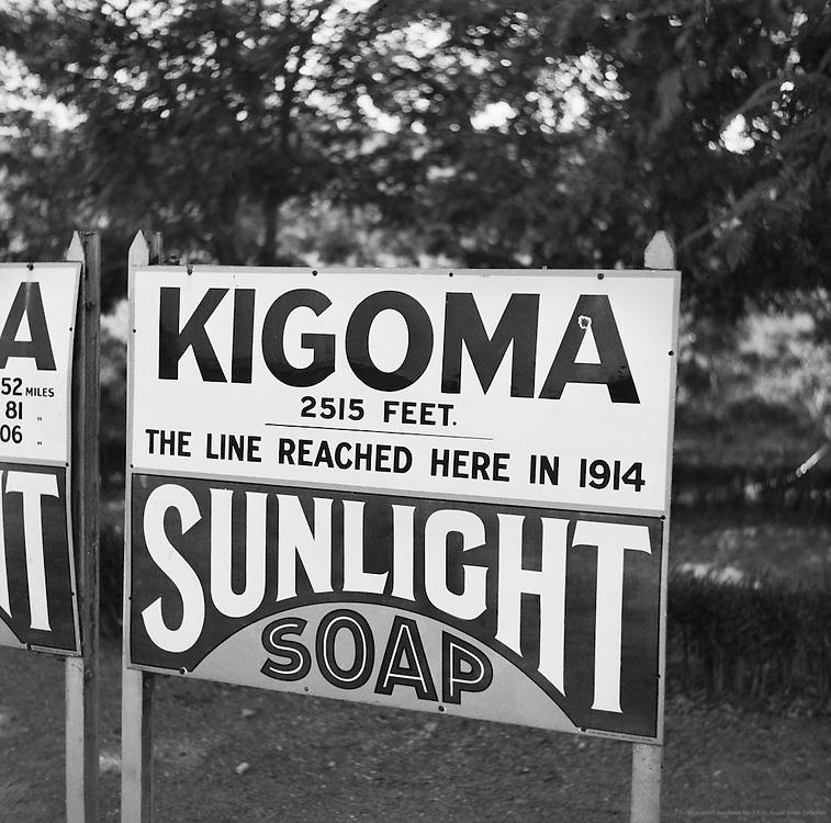 Sunlight Soap Ad, Kigoma, Tanganyika (now Tanzania), Africa, 1937