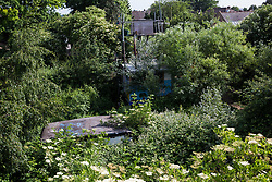 Sipson, UK. 5th June, 2018. A general view of Grow Heathrow. Grow Heathrow is a squatted off-grid eco-community garden founded in 2010 on a previously derelict site close to Heathrow airport to rally support against government plans for a third runway and it has since made a significant educational and spiritual contribution to life in the Heathrow villages, which remain threatened by Heathrow airport expansion., an off-grid community space intended to help the Heathrow villages fight airport expansion.