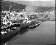 "Ackroyd 13672-1 ""Schnitzer Industires Inc. aerial of new 4000 ton barge. December 24, 1965"""