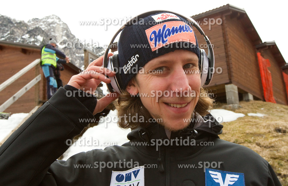 Martin Koch of Austria prior to the Flying Hill Individual at 2nd day of FIS Ski Jumping World Cup Finals Planica 2011, on March 18, 2011, Planica, Slovenia. (Photo by Vid Ponikvar / Sportida)