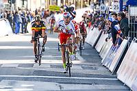 Kristoff Alexander / Debusschere Jens - Katusha / Lotto Soudal - 31.03.2015 - Trois jours de La Panne - Etape 01 - De Panne / Zottegem <br /> Photo : Sirotti / Icon Sport<br /> <br />   *** Local Caption ***