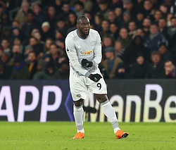 March 5, 2018 - London, United Kingdom - Manchester United's Romelu Lukaku scores his sides equalising goal to make the score 2-2.during the Premiership League  match between Crystal Palace and Manchester United at Selhurst Park Stadium in London, England on 05 March 2018. (Credit Image: © Kieran Galvin/NurPhoto via ZUMA Press)