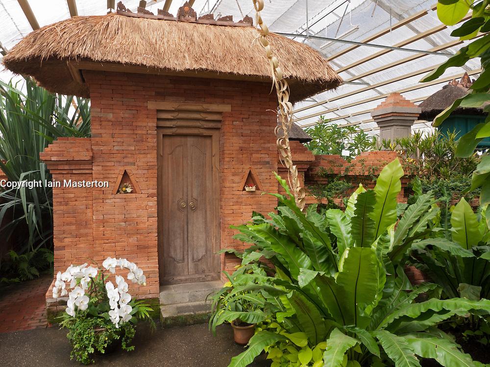 Detail at Balinese Garden at Garten der Welt in Marzahn district of Berlin Germany