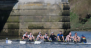 Mortlake/Chiswick, GREATER LONDON. United Kingdom. London RC<br /> Mx.MasA.8+, competing in the 2017 Vesta Veterans Head of the River Race, The Championship Course, Putney to Mortlake on the River Thames.<br /> <br /> <br /> Sunday  26/03/2017<br /> <br /> [Mandatory Credit; Peter SPURRIER/Intersport Images]