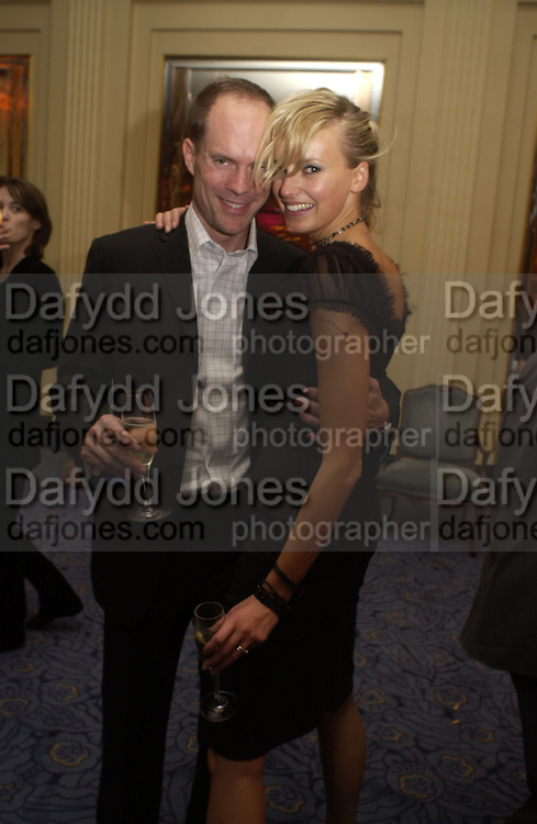 Mr. and Mrs. harry Blain. Rachel Whiteread, Haunch of Venison opening party. 28 October 2002. © Copyright Photograph by Dafydd Jones 66 Stockwell Park Rd. London SW9 0DA Tel 020 7733 0108 www.dafjones.com