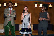 l to r: Fornzworth Bently, Natalie Wu, and Melody Harris at The Men of Style Awards presented by Gillette Fusion and Rolling Out Urbanstyle Weekly held at the 40/40 Club on Novemeber 2, 2009 in New York City