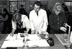 Chemistry lesson, Secondary school, Nottingham, UK 1992