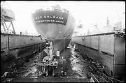 "Ackroyd_15737-04. ""Wisco. New Orleans on drydock. January 15, 1969"" (Swan Island)"
