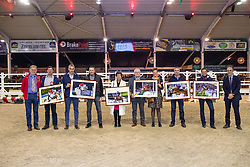 WBFSH ranking paarden, Bauters Jozef, Tom De Crean, Tim Van Tricht, Lieven Bruyneel, Mevrouw Van der Hasselt, ..., De Smet Stefaan<br /> BWP hengstenkeuring - Lier 201<br /> © Hippo Foto - Dirk Caremans<br /> 18/01/2019
