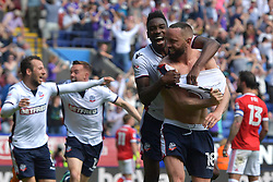 Bolton Wanderers' Aaron Wilbraham celebrates scoring his side's third goal of the game
