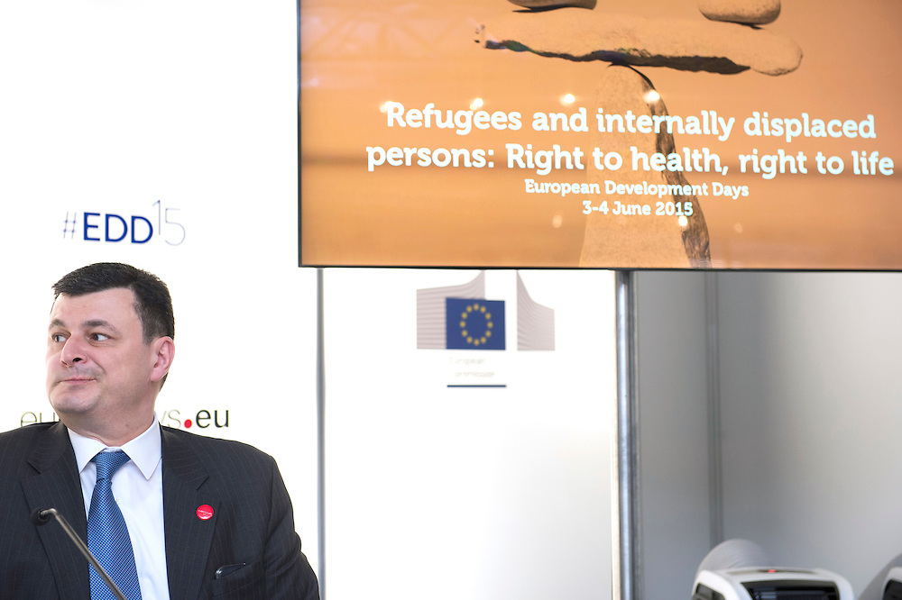03 June 2015 - Belgium - Brussels - European Development Days - EDD - Health - Refugees and internally displaced persons - Right to health , right to life -Alexander Kvitashvili<br /> Minister of Health, Ukraine © European Union