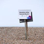 UK weather: Brighton Naturist Beach, UK on July 27 2018.