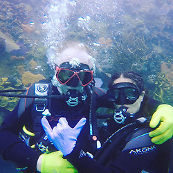 """Salma Hayek releases a photo on Instagram with the following caption: """"#mikewhite thank you so much for writing me the extraordinary role of #beatriz and for teaching me the \ud83e\udd19\ud83c\udffbsign we did it #underwater specially for you. You are a #genius  Gracias #mikewhite por escribirme el personaje de Beatriz y por ense\u00f1arme a hacer asi\ud83e\udd19\ud83c\udffb est\u00e1 #foto la tome especialmente para ti \u2764\ufe0f\u2764\ufe0f\u2764\ufe0f\ud83d\udc2c"""". Photo Credit: Instagram *** No USA Distribution *** For Editorial Use Only *** Not to be Published in Books or Photo Books ***  Please note: Fees charged by the agency are for the agency's services only, and do not, nor are they intended to, convey to the user any ownership of Copyright or License in the material. The agency does not claim any ownership including but not limited to Copyright or License in the attached material. By publishing this material you expressly agree to indemnify and to hold the agency and its directors, shareholders and employees harmless from any loss, claims, damages, demands, expenses (including legal fees), or any causes of action or allegation against the agency arising out of or connected in any way with publication of the material."""