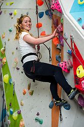 Medical students and volunteers students from the University of Edinburghendured a training session on a climbing wall ahead of their research trip to the Andes which will study the effects of altitude and low-oxygen environments on the human body. Volunteer Ellie Dickson (21) was pushing herself ahead of the trip next month. Centre for Sport and Excellence, University of Edinburgh24 April 2014 (c) GER HARLEY | StockPix.eu