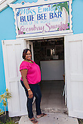 Portrait of Violet Smith, daughter of Miss Emily founder of the legendary Blue Bee Bar home of the Goombay Smash on Green Turtle Cay, Bahamas.