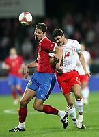 Fotball<br /> EM-kvalifisering<br /> 06.09.2006<br /> Polen v Serbia<br /> Foto: Wrofoto/Digitalsport<br /> NORWAY ONLY<br /> <br /> MICHAL ZEWLAKOW /R/ OF POLAND AND NIKOLA ZIGIC /L/ OF SERBIA