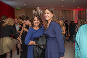 CINDY BLACK; SOPHIE WINKLEMAN, Pre -drinks at the St. Martin's Lane Hotel before a performance of the English National Ballet's Nutcracker: London Coliseum.12 December 2013