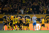 BERN, SWITZERLAND - SEPTEMBER 14: Harry Maguire of Manchester United shows dejection as BSC Young Boys celebrate their late winner during the UEFA Champions League group F match between BSC Young Boys and Manchester United at Stadion Wankdorf on September 14, 2021 in Bern, Switzerland. (Photo by FreshFocus/MB Media)