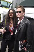 Michael Douglas and Catherine Zeta Jones. Grand Prix. Barcelona. Sunday 29 April 2001. © Copyright Photograph by Dafydd Jones 66 Stockwell Park Rd. London SW9 0DA Tel 020 7733 0108 www.dafjones.com