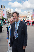 MONTY DON AND HIS WIFE SARAH, Press view of the 2016 RHS  Chelsea Flower Show,  London.