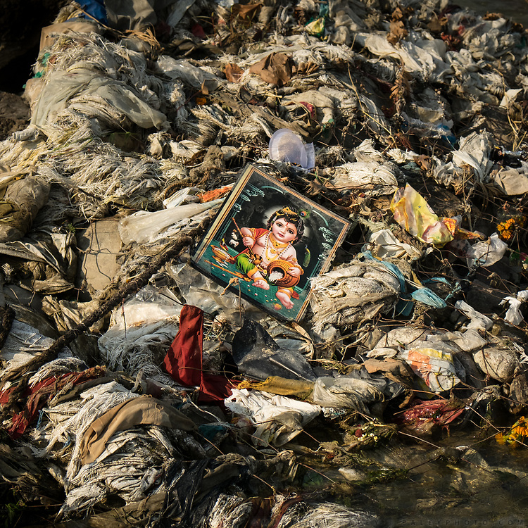 Garbage along the Ganges. In Rishikesh.