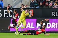 Jordan VERETOUT / Edson MEXER - 21.03.2015 - Rennes / Nantes - 30eme journee de Ligue 1<br />Photo : Vincent Michel / Icon Sport