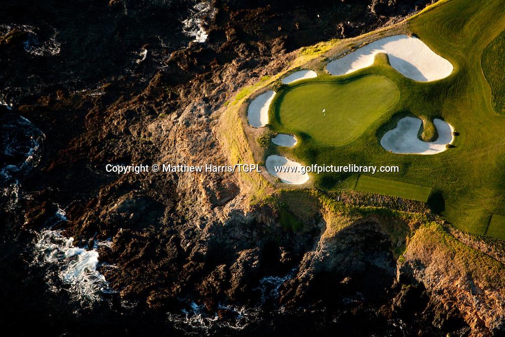 Pebble Beach Golf  Links venue for the 2010 US Open Championships,Pebble Beach,California,USA.7th par 3.