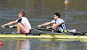 Caversham  Great Britain.<br /> left, Jonno CLEGG and Sam SCRIMGEOUR.<br /> 2016 GBR Rowing Team Olympic Trials GBR Rowing Training Centre, Nr Reading  England.<br /> <br /> Tuesday  22/03/2016 <br /> <br /> [Mandatory Credit; Peter Spurrier/Intersport-images]