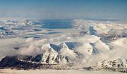 Icefjord and landscape around Longyearbyen, Svalbard