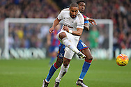 Ashley Williams, the Swansea City captain in action. Barclays Premier League match, Crystal Palace v Swansea city at Selhurst Park in London on Monday 28th December 2015.<br /> pic by John Patrick Fletcher, Andrew Orchard sports photography.