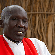 Pastor of Dadaab's Gambela church. These refugees from Ethiopia are now part of the Christian minority among Dadaab's largely Muslim population. North Eastern Province, Kenya.