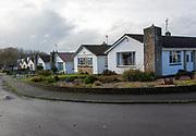 Suburban bungalow homes  small suburban housing estate, Calne, Wiltshire, England, UK