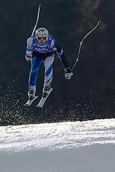 12.02.2011, Kandahar, Garmisch Partenkirchen, GER, FIS Alpin Ski WM 2011, GAP, Herren Abfahrt, im Bild Paul De-La-Cuesta (SPA) takes to the air competing in the men's downhill race on the Kandahar race piste at the 2011 Alpine skiing World Championships, EXPA Pictures © 2010, PhotoCredit: EXPA/ M. Gunn