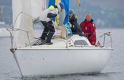 Pelle P Kip Regatta 2017 run by Royal Western Yacht Club at Kip Marina on the Clyde. <br /> <br /> Red Hot Poker, National Sonata<br /> <br /> Image Credit Marc Turner