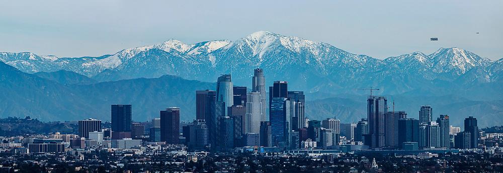 Los Angeles skyline. Los Angeles skyline.