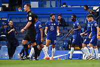 Football - 2019 / 2020 Premier League - Chelsea vs. Wolverhampton Wanderers<br /> <br /> Chelsea's Olivier Giroud celebrates scoring his side's second goal, at Stamford Bridge.<br /> <br /> COLORSPORT/ASHLEY WESTERN