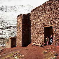 Young berber children at a small village of the Atlas mountains, Morocco