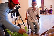 TV reporters in Gibara, Holguin, Cuba.