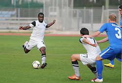 Opoku Aborah Stanley #26 of ND Mura 05 during football match between ND Gorica and ND Mura 05 in 20th Round of PrvaLiga NZS 2012/13 on November 24, 2012 in Nova Gorica, Slovenia. (Photo By Ales Cipot / Sportida).