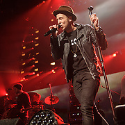 """WASHINGTON, DC - December 15th, 2014 - Ryan Tedder of One Republic  performs onstage during HOT 99.5's Jingle Ball 2014 at the Verizon Center in Washington, D.C. Their hits include """"Counting Stars"""" and """"Good Life."""" (Photo By Kyle Gustafson / For The Washington Post)"""