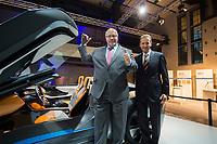 23 OCT 2012, BERLIN/GERMANY:<br /> Peter Altmaier (L), CDU, Bundesumweltminister, und Dr.-Ing. Herbert Diess (R), Mitglied des Vorstandsmitglied Entwicklung der BMW AG, vor eines Studie eines Elektrosportwagens, BMW Leistungsschau Elektromobilitaet, E-Werk Berlin<br /> IMAGE: 20121023-02-081<br /> KEYWORDS: Automobilindustrie, KFZ, Auto, Elektromobilität, E-Mobility