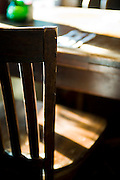 Chair photographed with very shallow depth of field